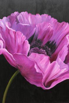 Pink Poppy Painting by Anneke Janszen Art Floral, Big Flowers, Beautiful Flowers, Draw Flowers, Poppy Flowers, Watercolor Flowers, Watercolor Paintings, Poppies Painting, Poppy Flower Painting