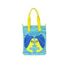 Gemini Jute Blue Bag