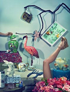 """""""Jean-Pacôme Dedieu's photographs can be described as creative chaos. He employs his unique aesthetics to his work, which mainly consists of vibrant color palettes and artisticjuxtaposition of objects."""""""