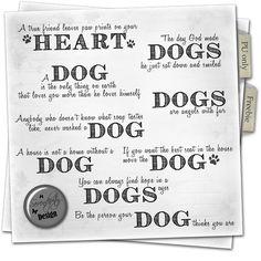 Serendipity Design Freebie Dog quotes package wordart digital scrapbooking