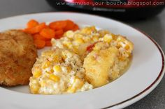 This slow cooker sweetcorn casserole would be the perfect side dish for your Thanksgiving or Christmas dinner!