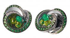 GRISOGONO's Chiocciolina earrings, set in white gold with 42 white diamonds