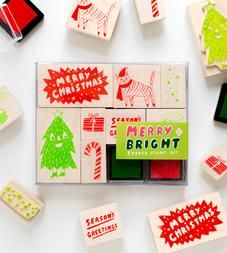 Merry & Bright Assorted Holiday Stamp Kit