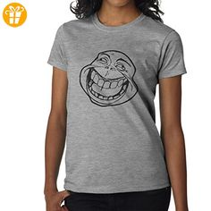 Funny Meme Face Design XXL Damen T-Shirt (*Partner-Link)