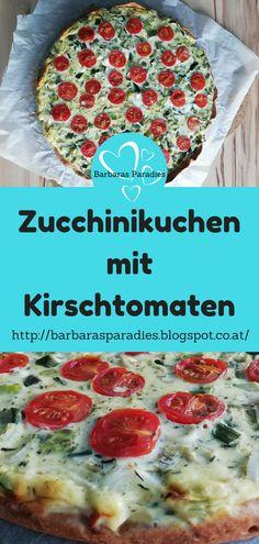 Die Zucchini-Zeit naht! Da mache ich gerne meinen Zucchinikuchen mit Kirschtomaten! Lecker für die ganze Familie!Wie du ihn auch machen kannst, zeige ich dir auf meinem Blog! #zucchini #zucchinikuchen #tomaten #rezept #gemüserezept #quiche #tarte #frühling #sommer #gesund #gesunderezepte Quiche, Blog, Pie, Cold Food, Delicious Dishes, Healthy Recipes, Quiches, Blogging