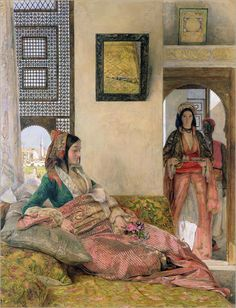 """""""Life in a Harem, Cairo""""  by John Frederick Lewis"""