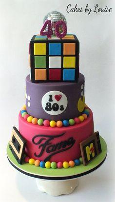 80's Disco Cake - by cakesbylouise @ CakesDecor.com - cake decorating website