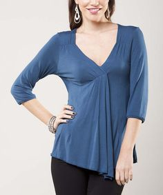 Another great find on #zulily! Teal Kadia Top #zulilyfinds