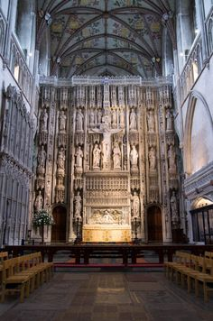 The Wallingford screen in the (partly) 11th century Cathedral and Abbey Church of St Alban, in the small city of the same name just outside London