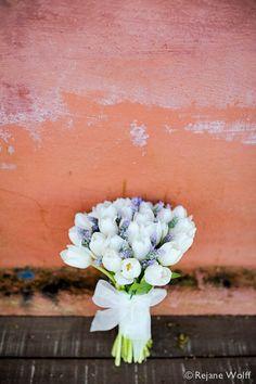 Bouquet de tulipas e lavandas  Foto: Rejane Wolff