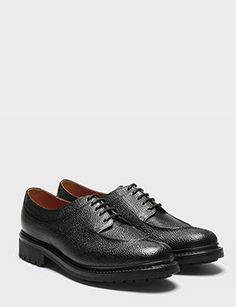 size 40 4f220 6c9bd Grenson Percy Shoe - Black Grain