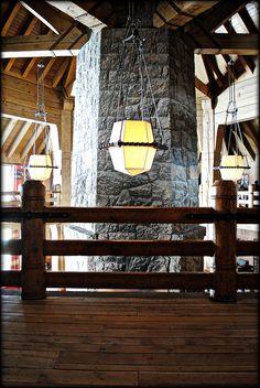Inside Timberline Lodge, via Flickr.