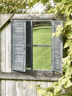 Outdoor Shutter Mirror - Garden Mirrors - Mirrors
