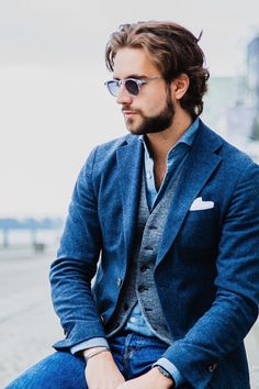 billy-george:   Wearing the blues in layers