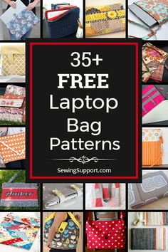 35 Free Laptop Bag patterns tutorials and diy sewing proj. 35 Free Laptop Bag patterns tutorials and diy sewing projects. Sew your own fabric sleeve for y Sewing Patterns Free, Free Sewing, Bag Patterns, Pattern Sewing, Blanket Patterns, Free Pattern, Laptop Stand, Laptop Bag, Unique Gifts For Girls