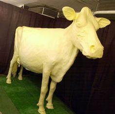 Iowa State Fair. (Butter Cow). Love the Iowa State Fair.