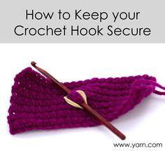 Tuesday's Crochet Tip – Keep your Crochet Hook Secure - Webs Yarn Store Blog ✭Teresa Restegui www.pinterest.com... ✭.