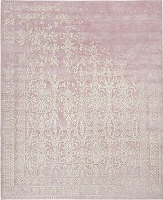 Jan Kath / Soft lilac and silver rug Floral Area Rugs, Blue Area Rugs, Jan Kath, Faux Sheepskin Rug, Retro Waves, Carpet Trends, Textiles, Carpet Design, Contemporary Rugs