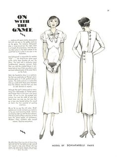 McCall Fashion Bi-Monthly, July-August 1932 featuring McCall ??? after Schiaparelli