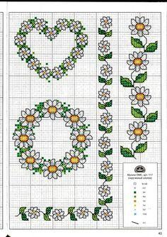 simple daisy cross stitch pattern - Buscar con Google