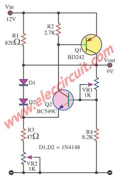 10a Regulated Power Supply Circuit Diagram Composed Of Lm305 Power