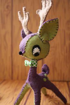 $45 Darling Deer in purple and green.