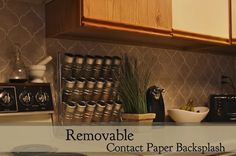 Removable Contact Paper Backsplash -- for just $3