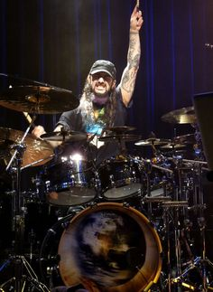 Mike Portnoy, Dream Theater drummer, backing vocalist, and a co-founder of Dream Theater. - cSw - http://www.pinterest.com/claxtonw/drummer-drumming/ - Born in 1967. Dream Theater is an American progressive metal/rock band formed in 1985 under the name Majesty by John Petrucci, John Myung, and Mike Portnoy while they attended Berklee College of Music in Massachusetts.
