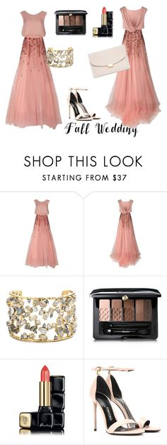 """i love it"" by poisonivy72 ❤ liked on Polyvore featuring Monique Lhuillier, Alexis Bittar, Guerlain, Tom Ford, Mansur Gavriel and fallwedding"