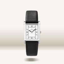 Armbanduhr, Damenuhr (4460635), Edelstahl-Gehäuse, mit Lederband und…