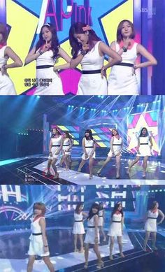 A Pink's Park Cho Rong Loses a Shoe on 'Inkigayo' #APink #Mnet #Kpop