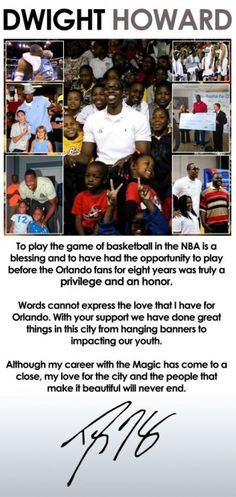 5b87460e5 Dwight Howard takes out full page ad in the Orlando Sentinel. Terez Owens ·  Sports Gossip