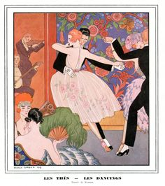 Les Thes - Les Dancings by George Barbier 1919