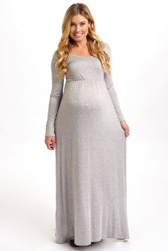 Embiebaby Fitted long sleeve Maternity Dress Photo Prop Stretch ...