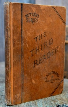 The Third Reader Butler's Series Antique School by RibbonsAndRetro, $12.00