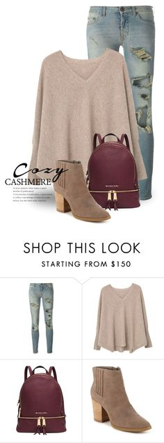 """""""Holiday Style: Cozy Chic 2594"""" by boxthoughts ❤ liked on Polyvore featuring Off-White, MANGO, Michael Kors, Madden Girl and cozychic"""