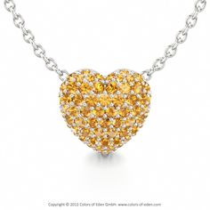 Pave Heart Romantic Pendant LOVE POEM at Colors of Eden #pendant