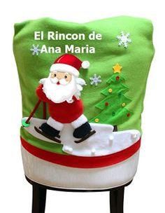 ADQUIERA YA SUS MOLDES EXCLUSIVOS DE COBERTORES DE SILLAS NAVIDEÑOS Felt Banner, Elf On The Shelf, Christmas Stockings, Holiday Decor, Crafts, Diabetes, Home Decor, Reindeer, Papa Noel