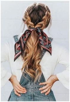 Easy Hairstyles 21 pretty ways to wear a scarf in your hair, easy hairstyle with scarf , hairst. 21 pretty ways to wear a scarf in your hair, easy hairstyle with scarf , hairstyles for really hot weather Scarf Hairstyles, Easy Braided Hairstyles, Hairdos, Wedding Hairstyles, Hairstyle Ideas, Hairstyles For Summer, Cute Fall Hairstyles, Bandana Hairstyles For Long Hair, Casual Hairstyles