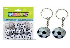 12-Soccer-Ball-Keyrings-Soccer-Ball-Key-Chains-Boys-Party-Favours-Soccer-Rewards