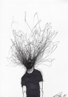 Adam Riches (British, England) - Ticking, 2018 Drawings: Pen on Paper art What Will Catch My Eye Creepy Drawings, Dark Art Drawings, Creepy Art, Pencil Art Drawings, Art Drawings Sketches, Simple Art Drawings, Creepy Sketches, Abstract Drawings, Abstract Paintings