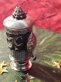 Miniature black and silver thimble Coffee Urn for scale dollhouse Flowery Branch, How To Make Ice Coffee, Hippy Room, Ladies Luncheon, Filter Design, Canister Sets, Black Enamel, Best Coffee