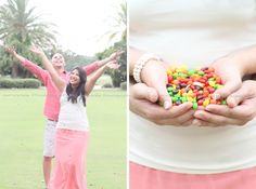 Engagement Pictures. Skittles are perfect for us.