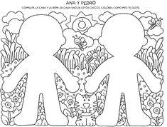 Dibujos para completar del cuerpo humano - Imagui
