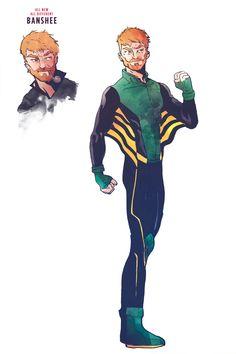 Banshee X-Men Redesign | Redesign: Stefan Tosheff's X-Men!