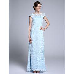 Lanting+Bride®+Футляр+Платье+для+матери+невесты+В+пол+Короткий+рукав+Кружева+-+Кружева+–+RUB+p.+9+344,98