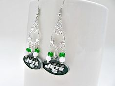 Check out this item in my Etsy shop https://www.etsy.com/listing/258661164/new-york-jets-football-earringsnew-york