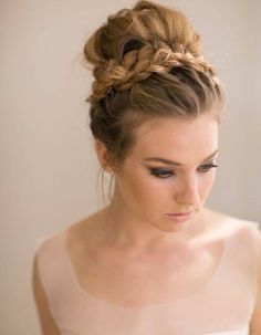 updo bridesmaid hairstyle