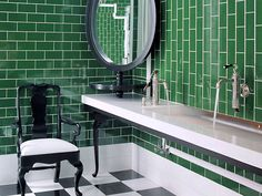 #Green #bathroom #tiles