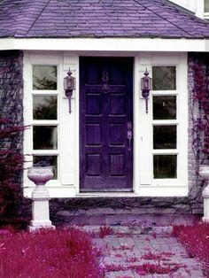 Front Door Doorway Print Purple Fushia
